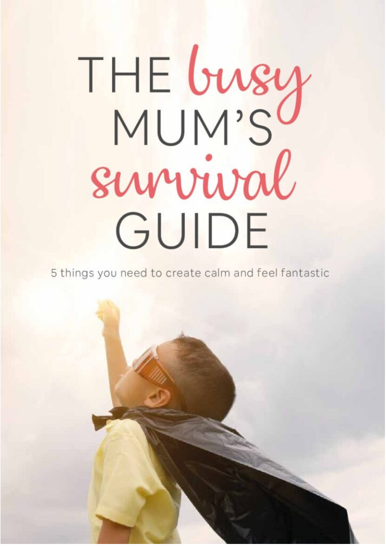 Alison Peacham Nutrition Busy Mums Survival Guide